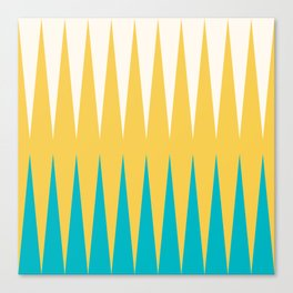 Geometrical retro colors modern print Canvas Print