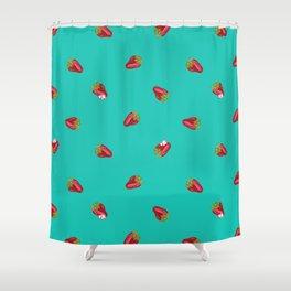 Sassy Strawberries Shower Curtain