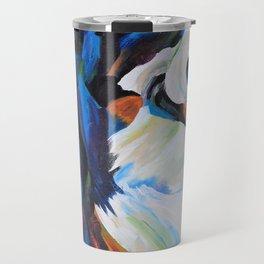 Colorful Border Collie Travel Mug
