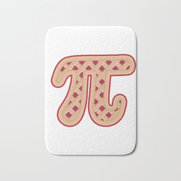 Apple Pie I Pi Day product 3.14159 Gift for Math Nerds Geek Bath Mat