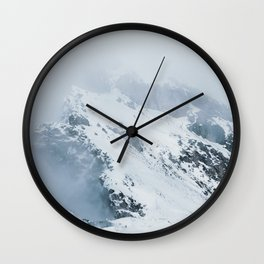 Old Mountain - Minimalist Landscape Photography Wall Clock