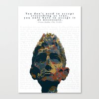 kafka Canvas Prints featuring Kafka by Ned & Ems