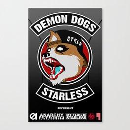 Demon Dogs Biker Brigade Canvas Print