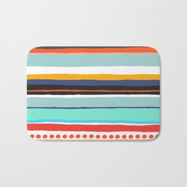 Pop Dot Line Bath Mat