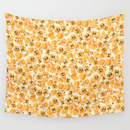 Candy Corn Emoji Pattern Wall Tapestry