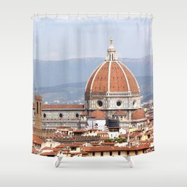 Florence cathedral dome photography Shower Curtain