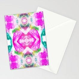 Fushia Energy Pattern Stationery Cards