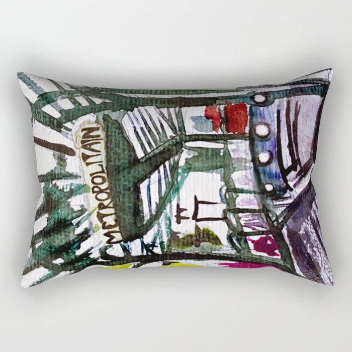 Paris Metro Sketch Chatelet Rectangular Pillow