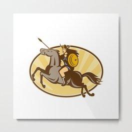 Valkyrie Amazon Warrior Horse Rider Metal Print