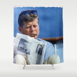 John F Kennedy Smoking Shower Curtain
