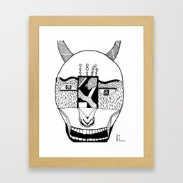 The Devil and His Door Framed Art Print