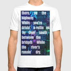 Please Send Your Mind. Mens Fitted Tee White MEDIUM