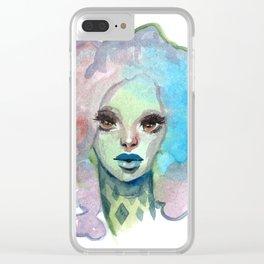 Rainbow Puff Clear iPhone Case