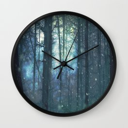 The Woods In Winter Wall Clock