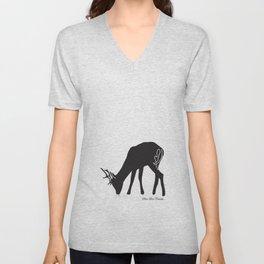 Deer Love Crumbs  Unisex V-Neck