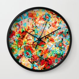 Flower Fight Wall Clock