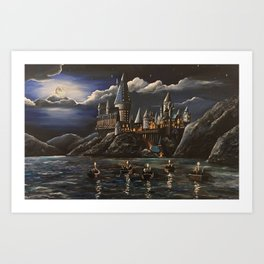 Beautiful Magic Castle Art Print