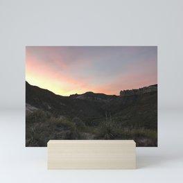 Summer Sunset Over Montana Sagebrush Mini Art Print