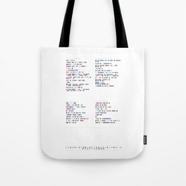 Rilo Kiley Discography | Music in Colour Code Tote Bag