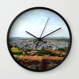 Jodhpur Blue City view Wall Clock