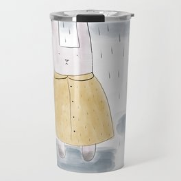 Bunny in a big coat Travel Mug