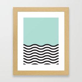 Waves of Green Framed Art Print