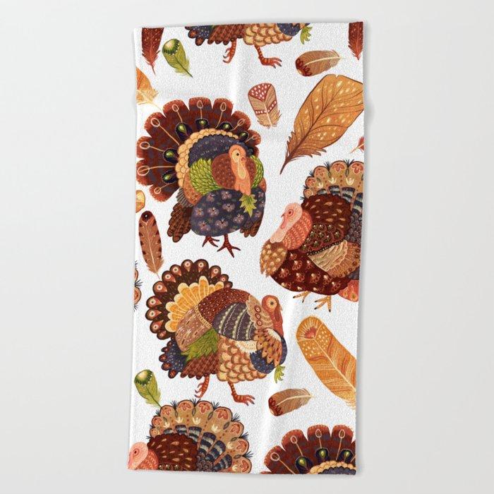 Turkey Gobblers Beach Towel