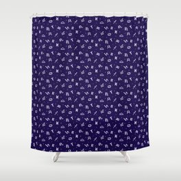 Symbols of Astrology Shower Curtain