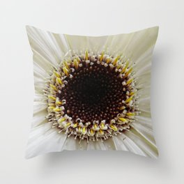 Crowning daisy Throw Pillow