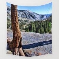 yosemite Wall Tapestries featuring Yosemite park by Claude Gariepy