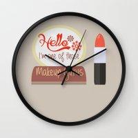 makeup Wall Clocks featuring Makeup Guru by PhraseCrowd