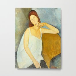 Amedeo Modigliani - Jeanne Hébuterne Metal Print