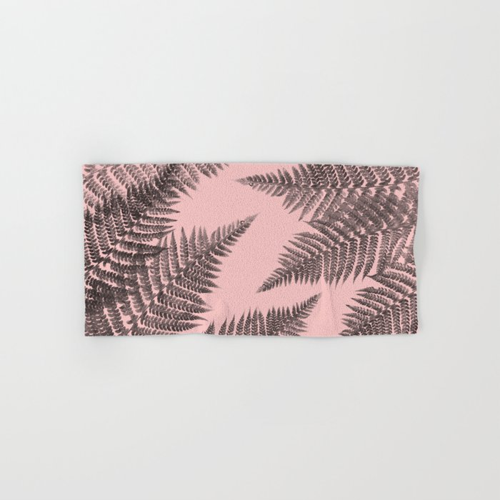 Ferns on Pink Hand & Bath Towel