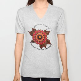 They Tried to Bury Us, They Didn't Know We Were Seeds Unisex V-Neck