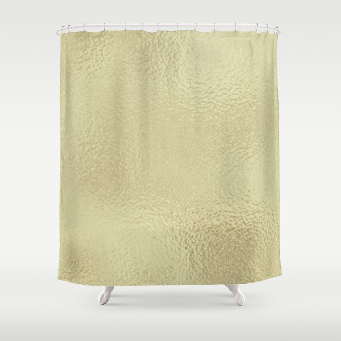 Simply Metallic In White Gold Shower Curtain By Followmeinstead