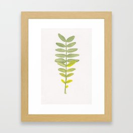 Honey Locust Turning Framed Art Print