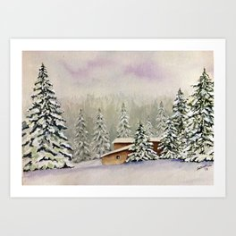 Winter Retreat Art Print