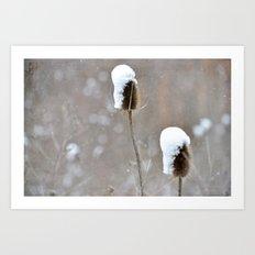 Snow Frosting Art Print
