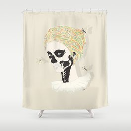 Skull Arlequin Shower Curtain