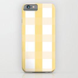 Plaid - Yellow iPhone Case