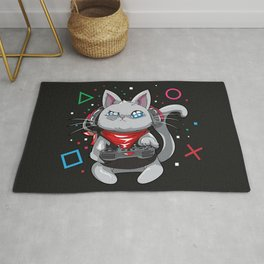 Cat the player Rug
