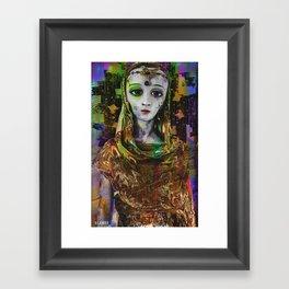 The Grey Framed Art Print