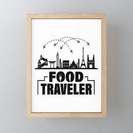 food traveler food travel traveler food blog Framed Mini Art Print