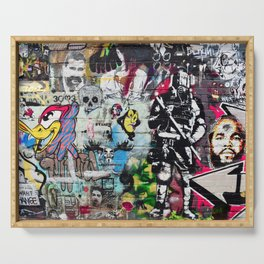 Graffiti wall 8 Serving Tray