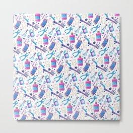 Dentist Pattern Metal Print