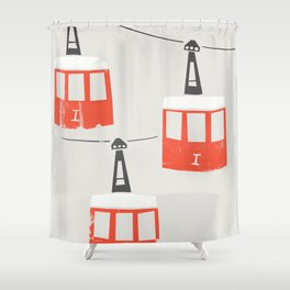 Barcelona Cable Cars Shower Curtain