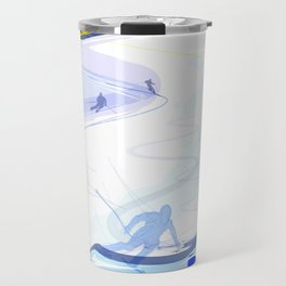 Downhill Skiing Travel Mug