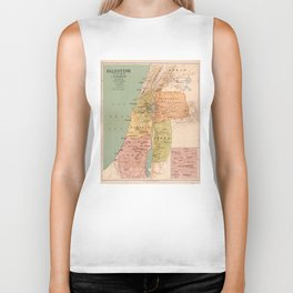 Map of Palestine in the Time of Christ (to 70 A.D.) Biker Tank