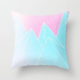 Sparkly Blue Crystals Design Throw Pillow