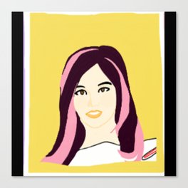 Knock Knock! Sana Yellow Canvas Print